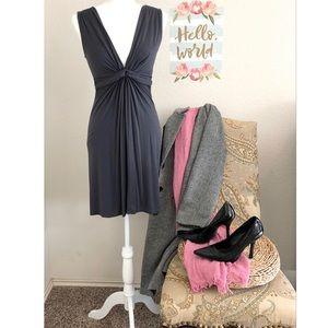 V-Neck A-Shape Forever 21 Gray Dress